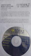 NEW Topaz model T-C916-HSB ClipGem LGL USB bundled user guide and software disk