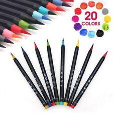 20 Farben Aquarell Zeichnung Malerei Bürste Stift Watercolor Painting Brush Pens