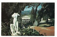 HEARST CASTLE Statue VENUS in CALLA LILLIES San Simeon CALIFORNIA Postcard
