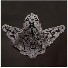 Catholic Church Mass Lace Chapel Veil Headcover Mantilla Black-Gray CB642860