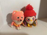 "Plush Becca's Bunch by Jacks lot of 2 soft Stuffed Animal Becca Sylvia 7"""