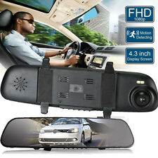 HD 2.4'' 1080P Rearview Mirror Video Recorder DVR Cam G-sensor Car Dash Camera