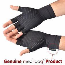 Copper Compression Arthritis Gloves Hand Support Fingerless Warm Work Rhuematoid