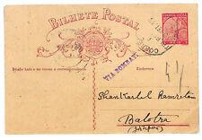 EE36 1935 PORTUGUESE COLONIES INDIA Stationery Postcard *VIA BOMBAY* {samwells}