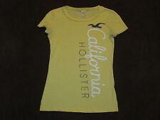 Womens Holister Hollister Yellow Logo Graphic Lightweight T-Shirt Top XS Soft
