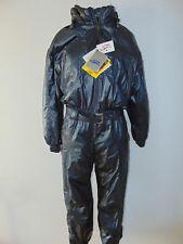 Vintage 80 SILVY S 48 Tuta Sci Ski Suit Grigio 90 NUOVO Old Stock Shiny Metal