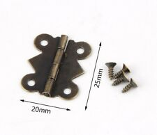 25*20mm Bronze Wooden Box Gift Packaging Cabinet Drawer Jewelry Box Hinge For