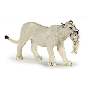 PAPO Wild Animal Kingdom White Lioness with Cub Figure 50203 NEW