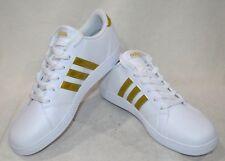 Adidas basal K Blanco/Dorado Niño/Niña's Zapatilla de Deporte-Tallas 6 nuevas con caja CG5844
