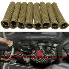 8x Spark Plug Wire Boot Heat Sleeve Cover Shield For Sbc Bbc Msd Titanium 2500 Fits More Than One Vehicle