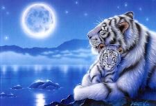 Puzzle Wiegenlied, 500 Teile, Raubkatze, Tiger, Fantasy, Vollmond, Clementoni