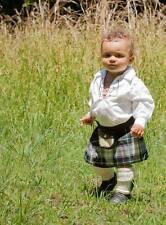 MacKenzie Tartan  Baby Kilt Plus Sporran  4-12 Month Christening Baby Shower