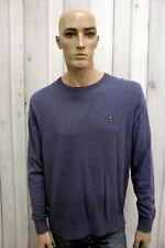 TOMMY HILFIGER Taglia XL Maglione Uomo Cotone Casual Pull Pullover Sweater
