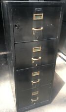 Vintage Shaw Walker 4 Drawer Portable One Hour Fire Proof File Cabinet F2-ND