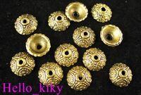150pcs Antiqued gold plt ornate bead caps A531