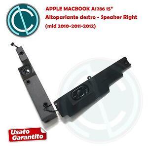 """APPLE MACBOOK PRO A1286 15"""" 2010 11 12 ALTOPARLANTE SPEAKER CASSA DESTRA RIGHT"""