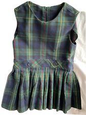 PreOwned Parker Sleeveless Pleated Girls Uniform Jumper Size 4 W/ 1.5 In HemLeft