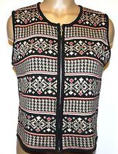 Telluride Clothing Company Sweater Vest Medium Fairisle Nordic Icelandic Zip Up
