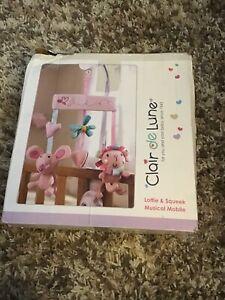 Clair de Lune Lottie &Sqeek Musical Mobile pink