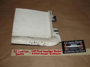 65 Cadillac Deville LEFT LOWER HEADLIGHT BUCKET INNER FENDER EXTENSION FILLER
