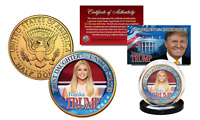 IVANKA TRUMP Presidential FIRST DAUGHTER 24K Gold Clad U.S. JFK Half Dollar Coin
