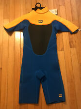 NWT Billabong Wetsuit/Springsuit 2mm Foil Youth SZ 14 $79.95