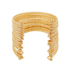 Statement Celeb Gold Multi Wired Cuff Bangle Bracelet  By Rocks Boutique