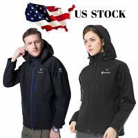 ORORO Men Women Heated Jacket Black Winter Coats With Battery Warm Clothing