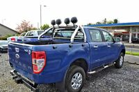 To Fit 16+ Ford Ranger Stainless Steel Sport Roll Bar + Chrome Fog Lights x4