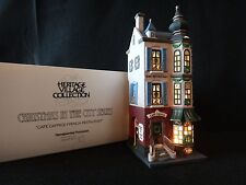 """Dept 56 Christmas in the City """"Cafe Caprice French Restaurant"""" retired 2001"""