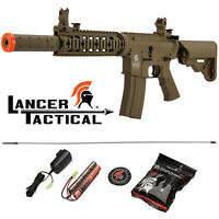 Lancer Tactical Polymer Tan 350 FPS Gen 2 SD M4 AEG Automatic Airsoft Rifle