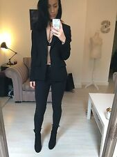 Max Mara Black Blazer Suit Jacket Tailored Size 10 / Small