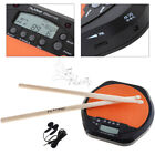 Digital Electric Drum Pad Training Practice Metronome with Two Maple Wood Drum