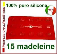 MOLDES SILICONA GALLETAS SILICONE MOLDS COOKIES 15 MINI MADELEINE BISCUITS MOULE