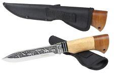 Jagdmesser Reisemesser OXOMHUK KNIFE Stahl 65H13 Holz Russia ND202
