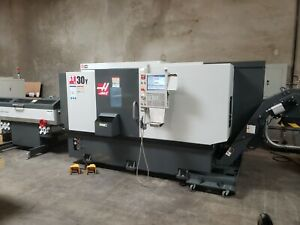 HAAS ST-30Y LIVE TOOL LATHE MFG 2020 WITH SUB SPINDLE AND 2020 BARFEEDER