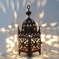 Orientalische Laterne Schmiedeeisen  Marokkanische Eisenlaterne Orient ELJ H33cm