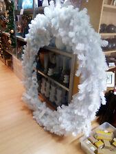 Weihnachten,Kranz,Weihnachtskranz,Weiß,Abverkauf,Geschäftsdeko,165cm,4Teilig,NEU