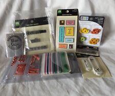 Scrapbook Card Making Eyelets Tiles Embellishments Charms Label Holders lot 7