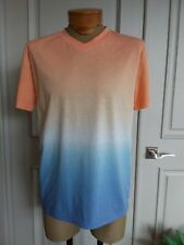 Brooklyn cloth trademark ombre blue orange short sleeve shirt tee top sz L NWOT