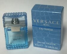 Versace Man Eau Fraiche Mini Travel EDT 0.17oz 5 ml Edt Cologne Men's New in Box