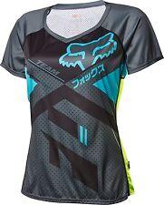 Fox Racing Womens Lynx Short Sleeve Jersey Charcoal