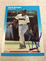 Autographed 1987 Fleer San Diego Padres Chris Brown Autographed Baseball Card