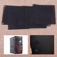 10pcs 80mm Black New PVC Computer PC Dustproof Cooler Fan Case Cover Filter Mesh