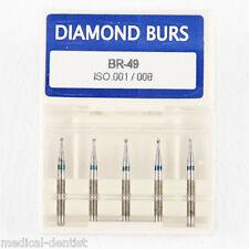 5pcs/1 Box New Dental Diamond Burs Drill FG 1.6MM For High Speed Handpiece BR-49