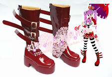 One Piece Perona Red Halloween Thick Heel Cosplay Shoes Boots H016