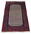 Semi Antique Hand Knotted Wool Area Rug Mat Carpet Red Prayer 3' X 4'