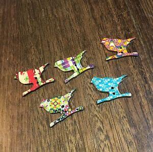 Birdie Bird Novelty Button 5 Pack
