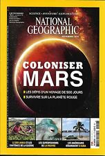 NATIONAL GEOGRAPHIC N°206 NOVEMBRE 2016  COLONISER MARS_PIEUVRE_AMERICAINS& CUBA
