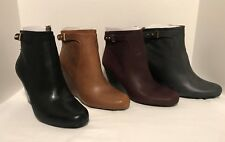 Isaac Mizrahi Leather Wedge Ankle Boots Buckle VICKY PICK SIZE & COLOR